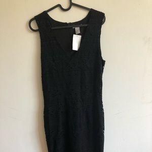 Black sleeves Lace dress